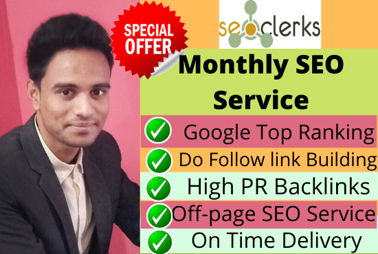 I will do google top ten ranking your website , with white hat SEo service .