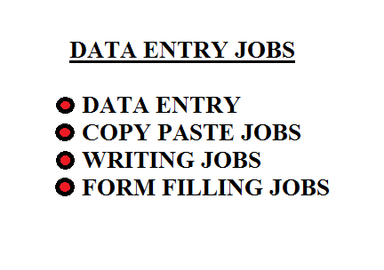 I will provide data entry operations such as copy paste,  writing jobs