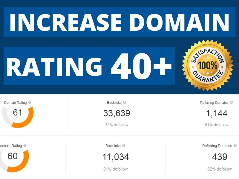 Increase Ahrefs Domain Rating DR 40+ Guaranteed Results for You