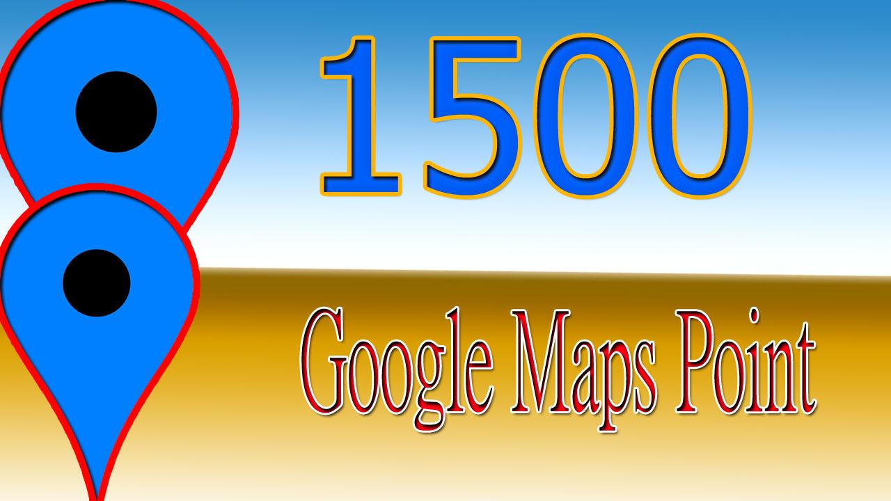 Create 1500 Google Map Point Local SEO