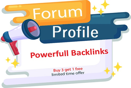 Create High quality 100 Forum Profile Backlinks