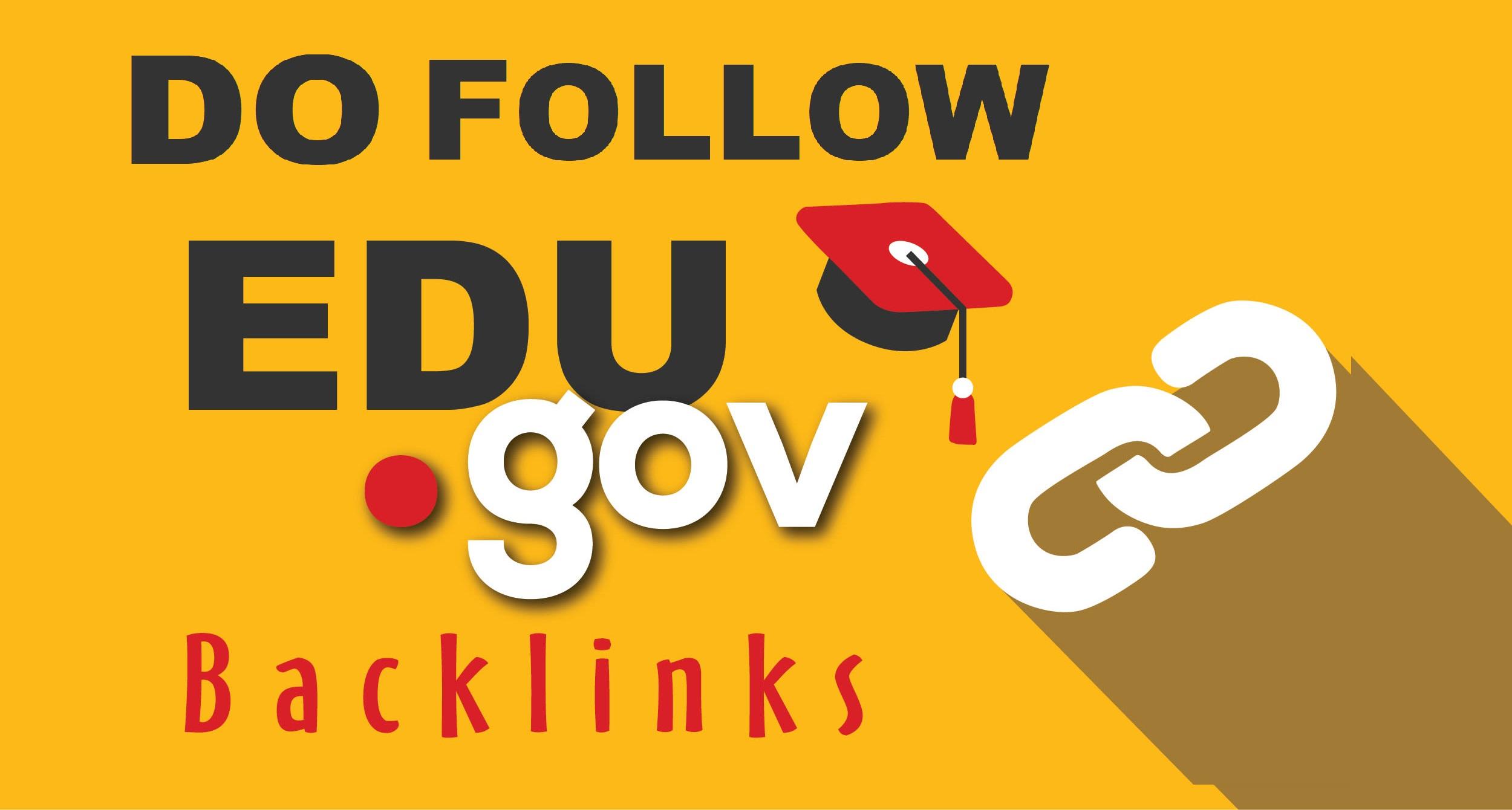 300 High quality Do Follow Edu and Gov Backlinks
