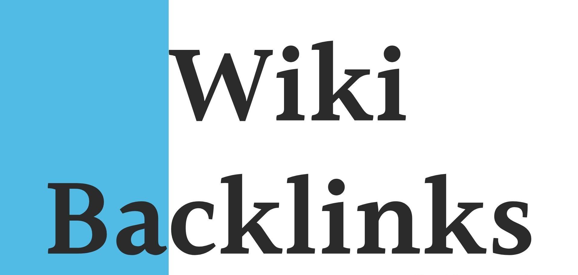 High quality 30 wiki backlinks