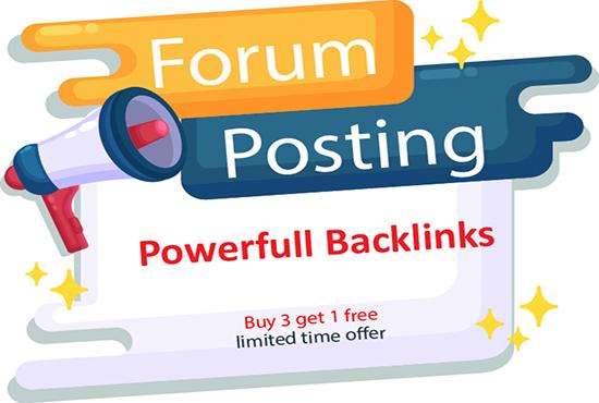 Create High quality 100 Forum Profile Backlinks