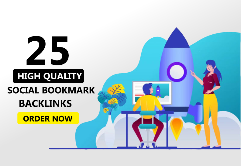 Instant 25 high quality social bookmarkings in 24 hours
