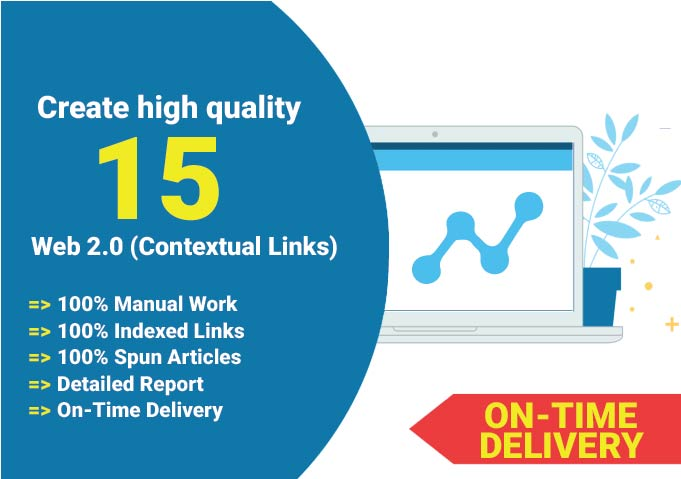 I will build 15 Web 2.0 contextual backlinks for your website