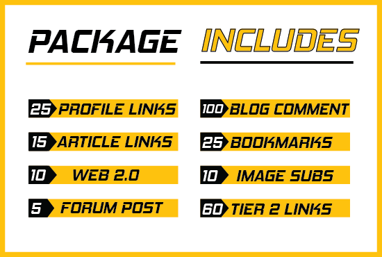 Complete link building package for your website's top ranking