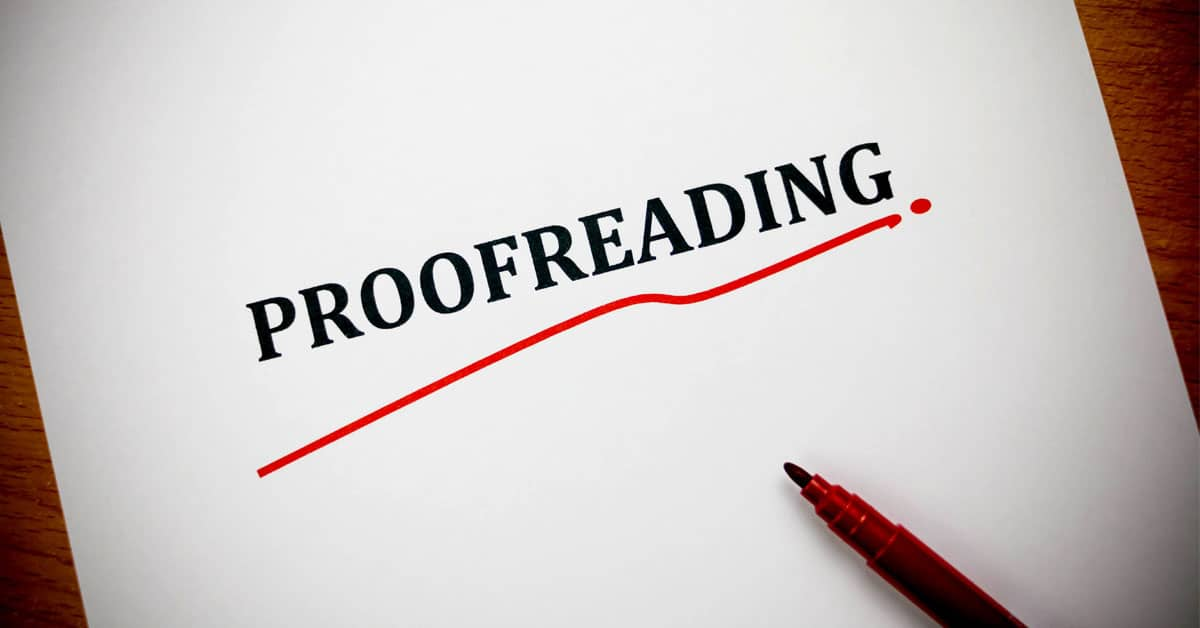 Proofreading with Quality for Less.