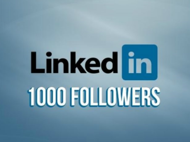 1000 Real USA LinkedIn follower to your company page or profile