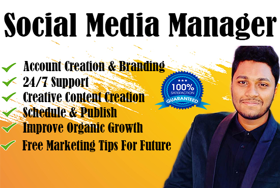 I will be your personal Social Media Manager