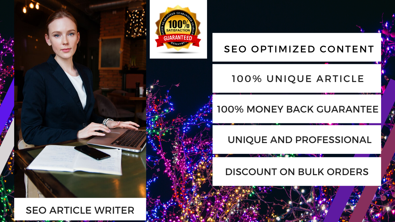 I Write high quality SEO article writing for blog,  website within 24 hours
