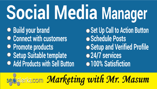 I will be your social media manager for Facebook,  Instagram,  Twitter,  LinkedIn