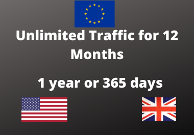 I will drive Unlimited traffic for 12 months to your site or youtube