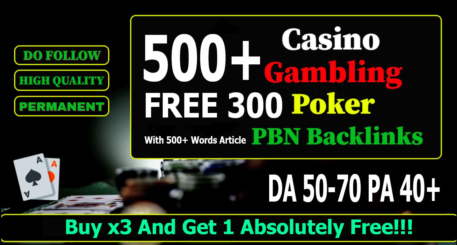 Get 800+ Casino,  Gambling,  Poker Related Web 2.0 PBNs Blog