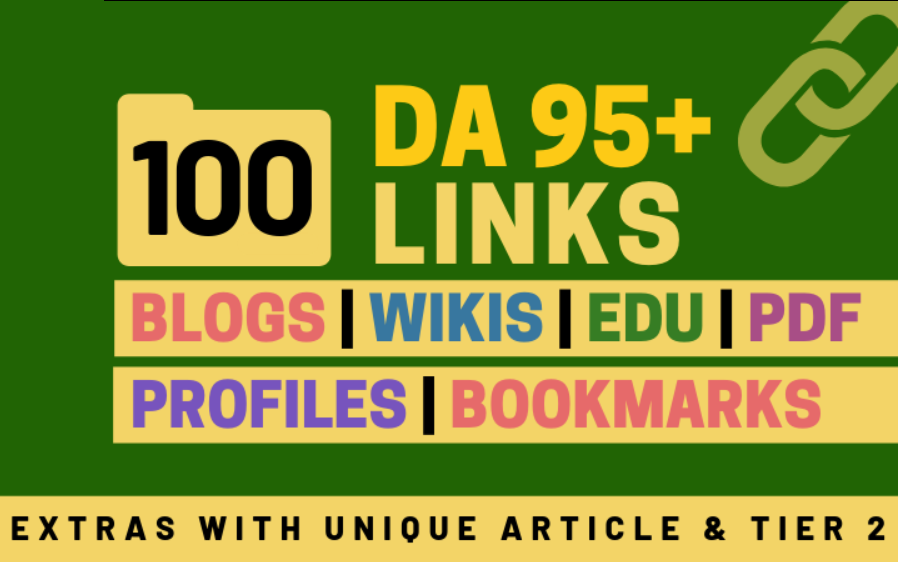 100+ High DA 95+ HQ Links to Ranking Your Website Google 1st Page