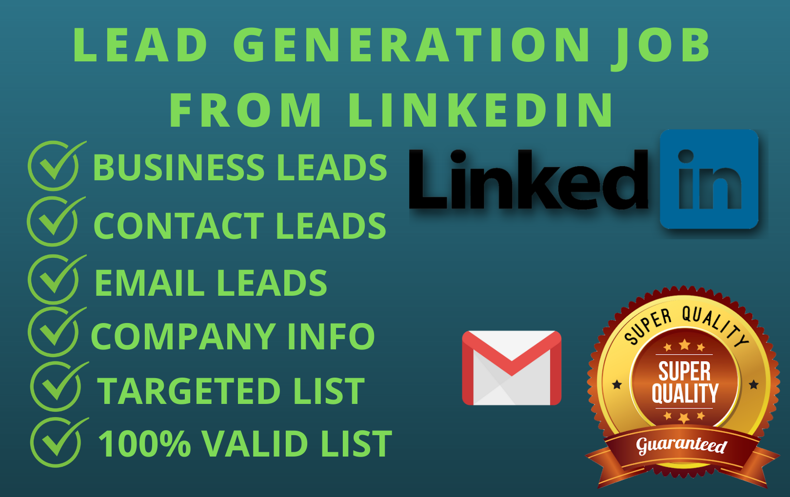 I will search business email,  lead generation job from linkedin