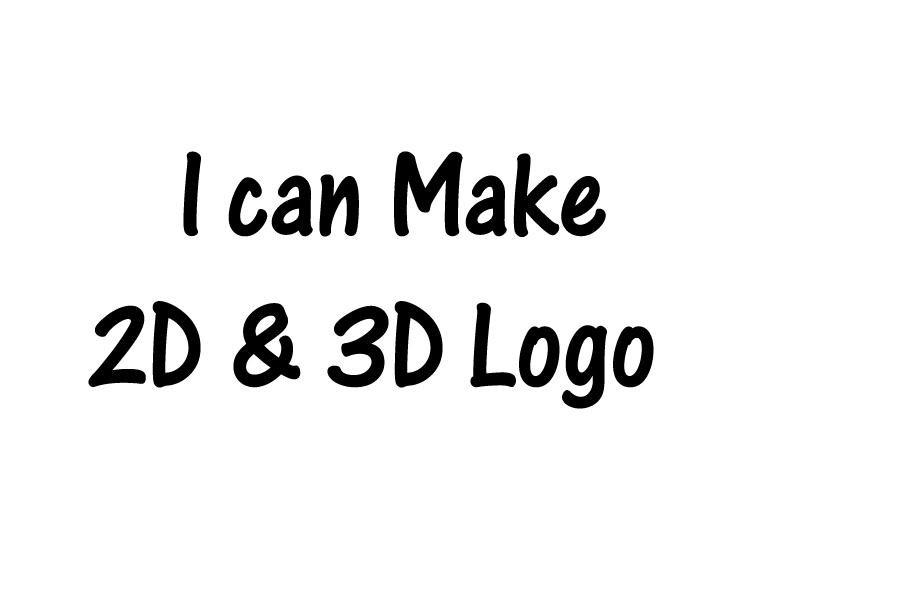I create 2D & 3D Design Logo in short time