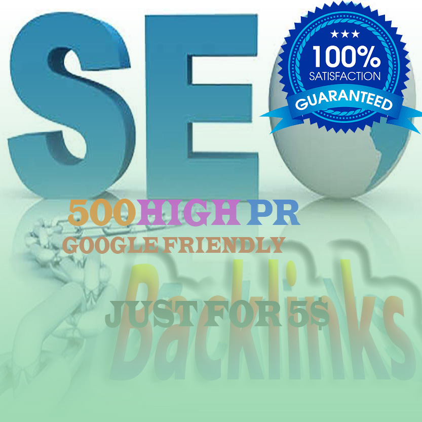 I will create 500 DO-follow high PR4-PR7 Backlinks for 5