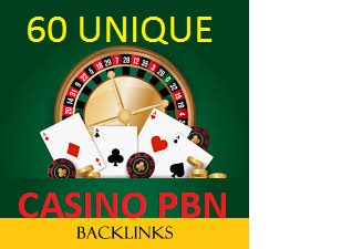 60 Casino, Poker and Gambling PBN Backlinks high da pa links with aged domains and fast delivery