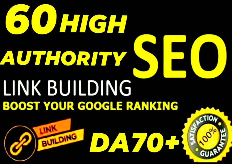 I will do 60 High DA 80+ Manual link building SEO backlinks service