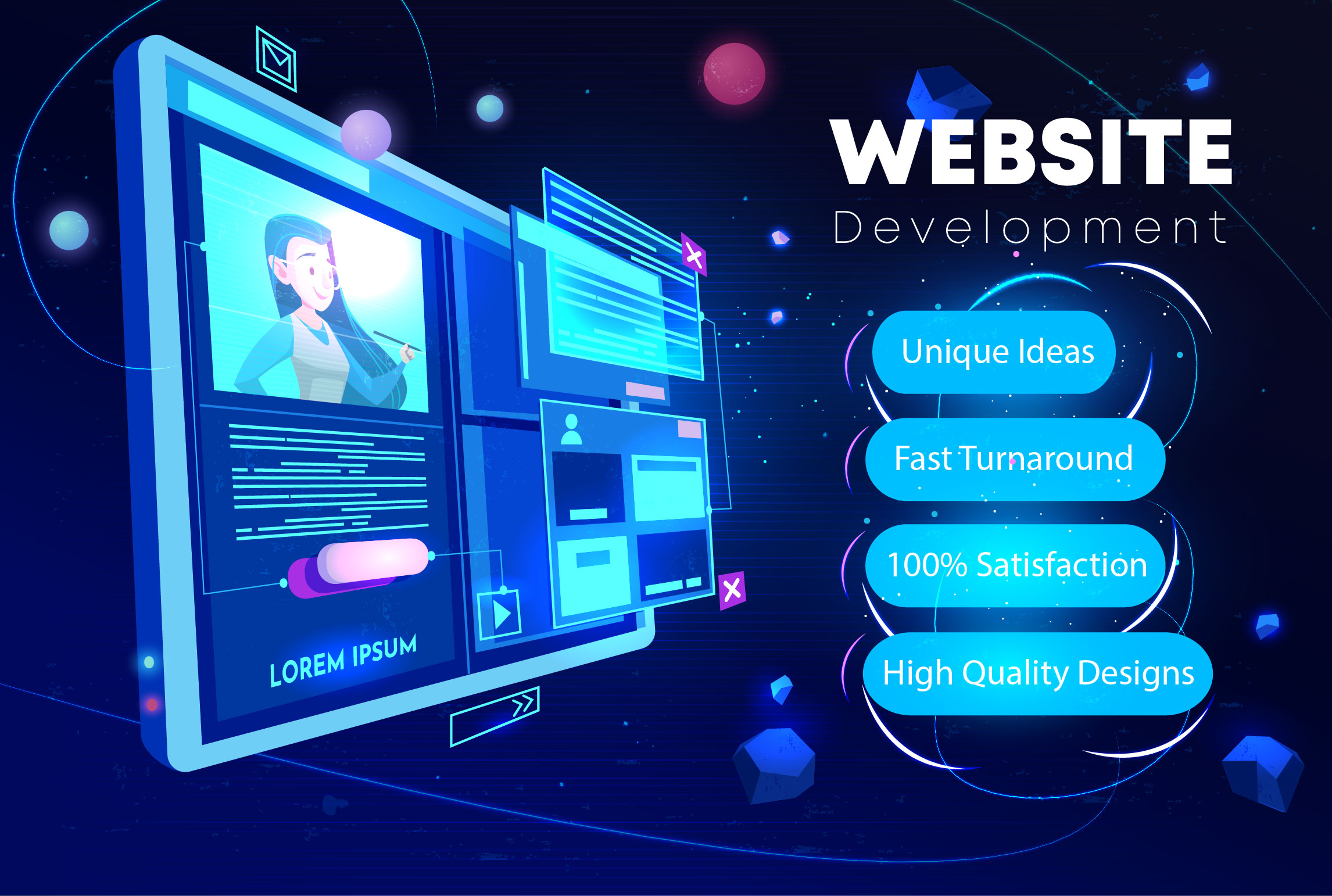 I will create a professional responsive WordPress website design