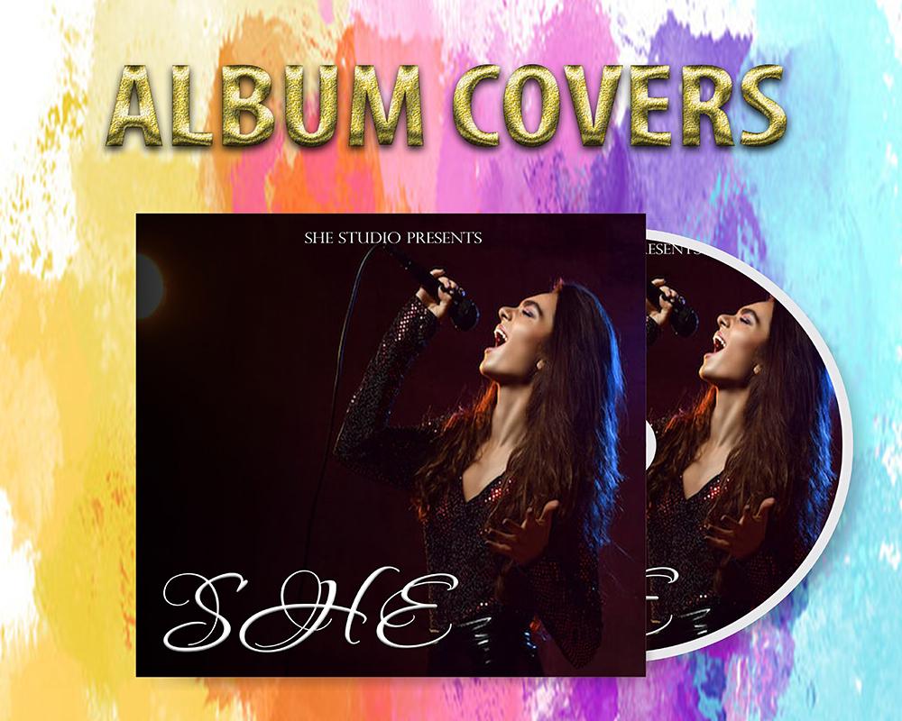 I will design your music album cover art