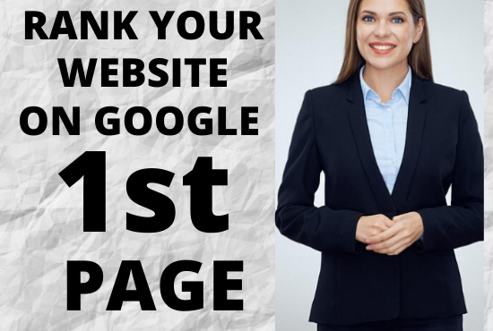 I will increase your website ranking on google 1st page