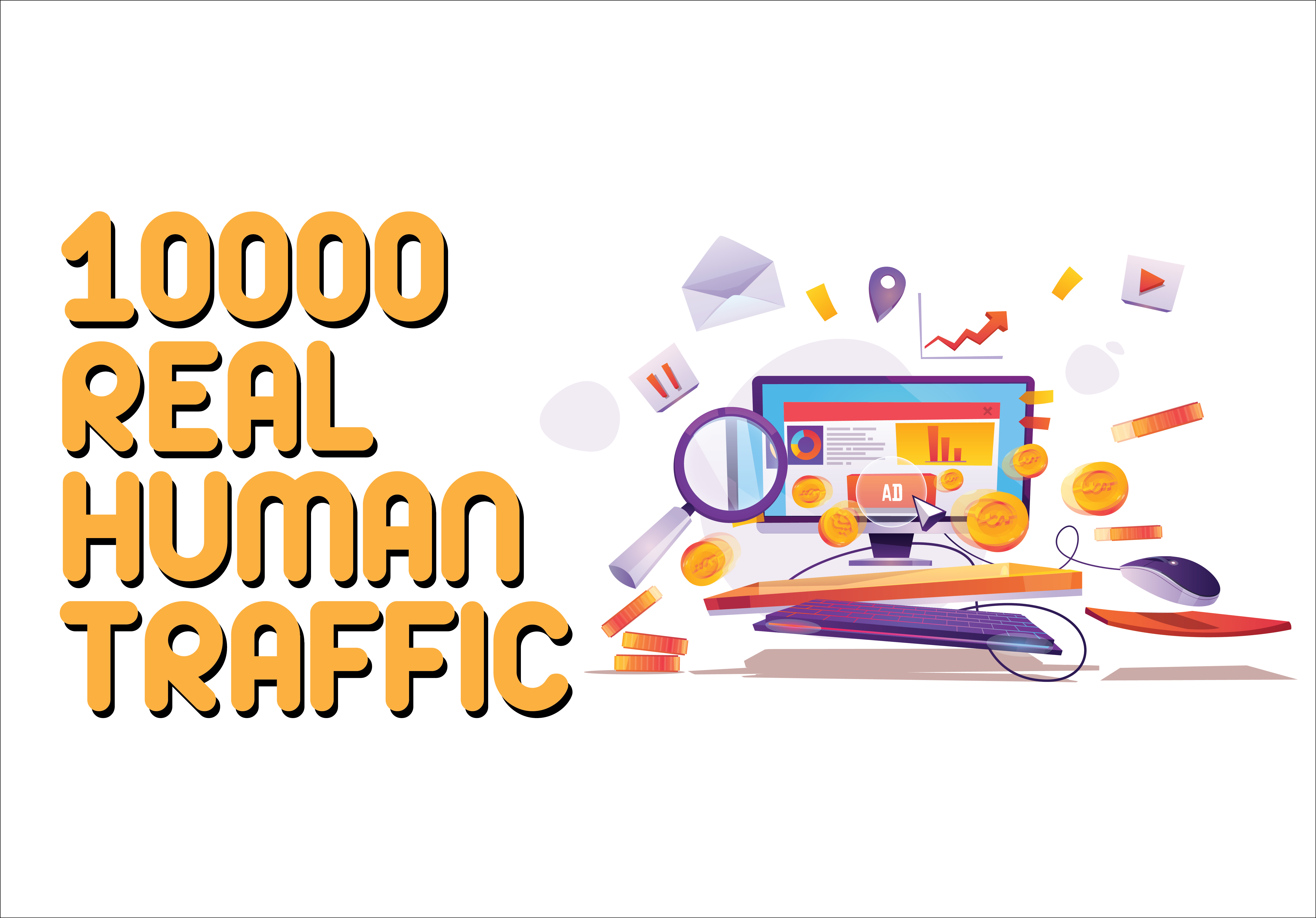 10000 Real Human Traffic to Your Website