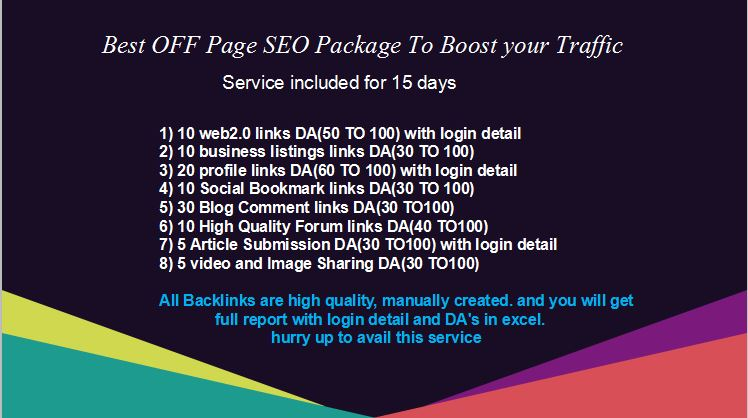 Best OFF Page SEO Package To Boost Up Your Traffic