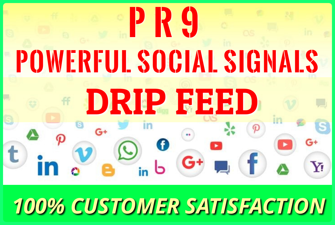 provide 1500 High Quality Social Signals from the Best Social Media Web