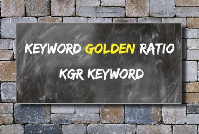 I will do unique KGR keyword research that will rank fast
