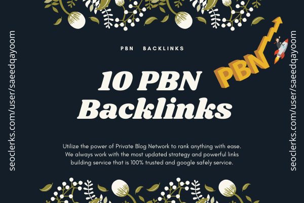 High Quality Permanent Contextual PBN Backlinks