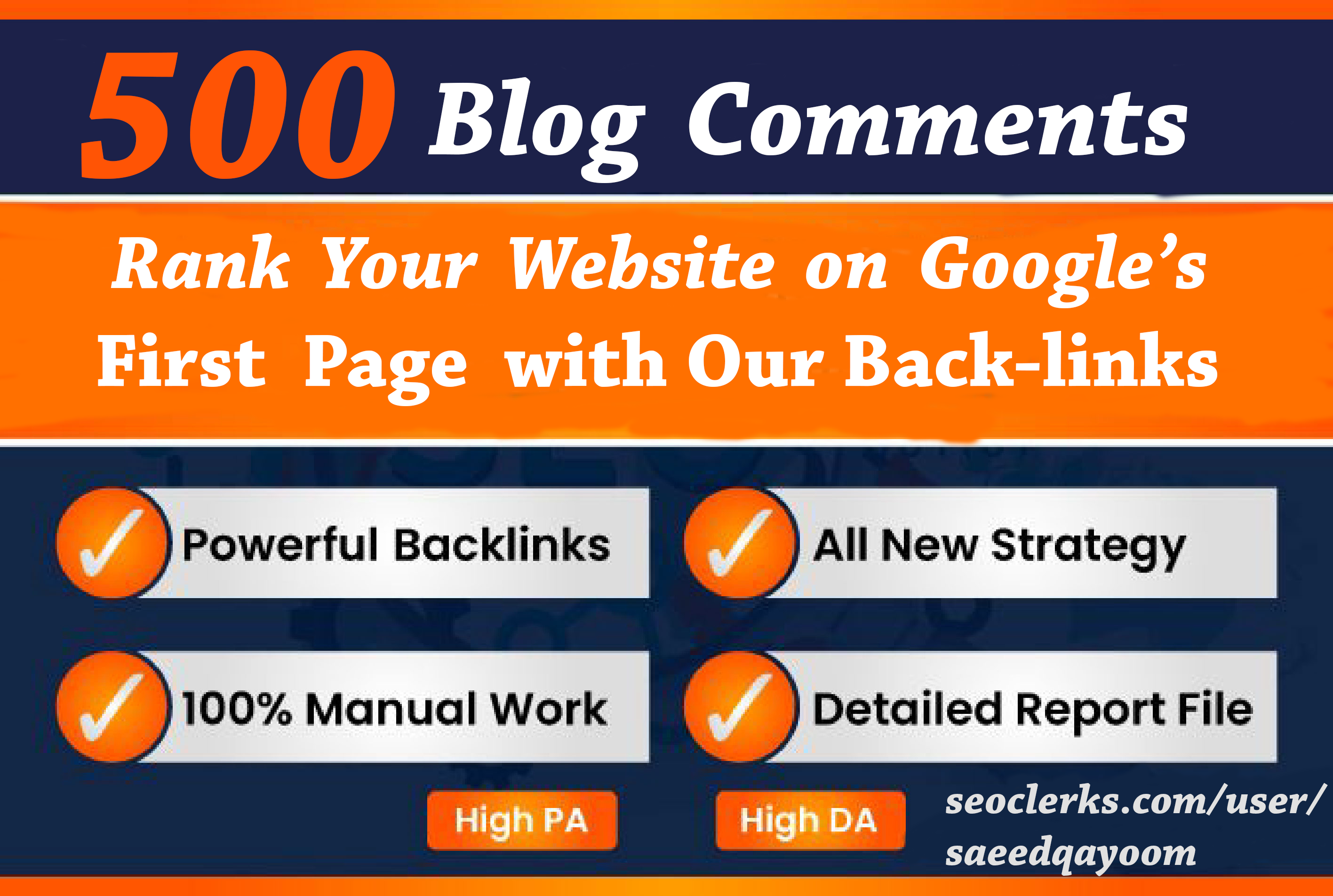 I will Boost up website ranking on Google with 500 Dofollow Blog Comment backlinks