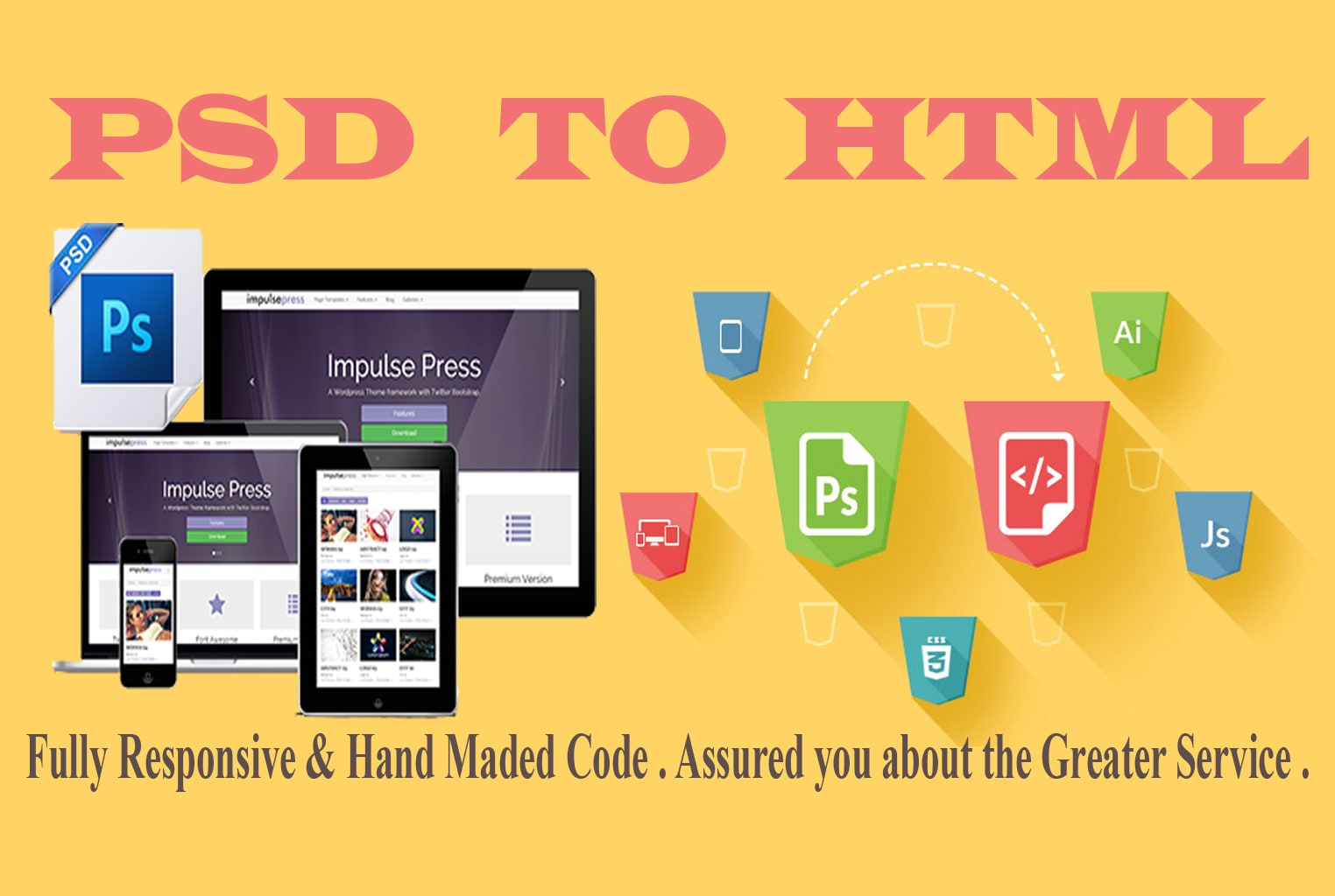 I will convert 1 PSD to Responsive HTML Website Design
