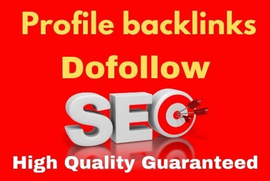 20 SEO Profile Backlinks on DA 80+