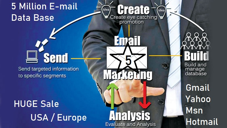 I will give email marketing database email list