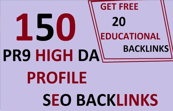 Create 150 Manually & Quality Strong Profile. EDU Backlinks Created from Top Rated Universities