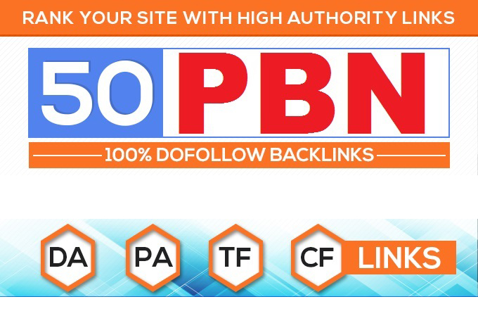 Build 50 Home Page PBN Backlinks 100 Dofollow High Quality Backlinks site.