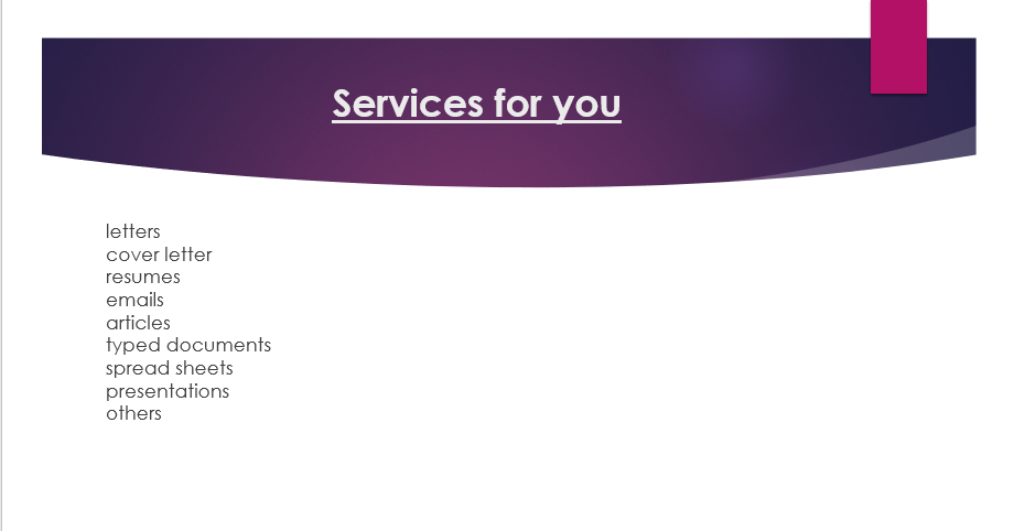 Contact for quality documents including, letters, emails,official documents
