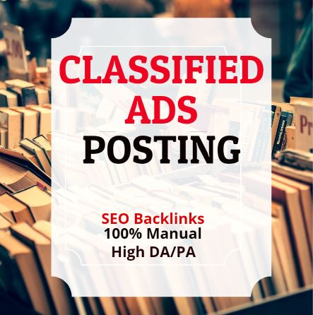 Top 25 Classified ads posting/ Ads backlinks