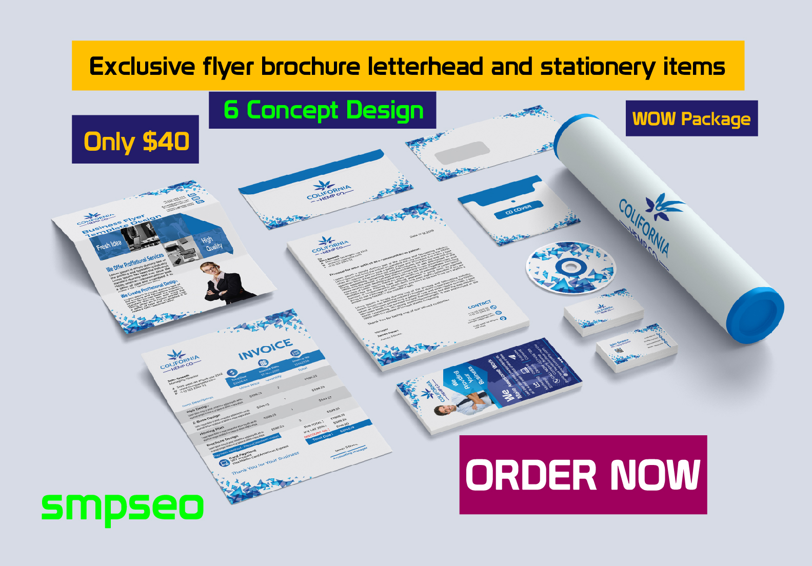 Exclusive flyer brochure letterhead stationery items