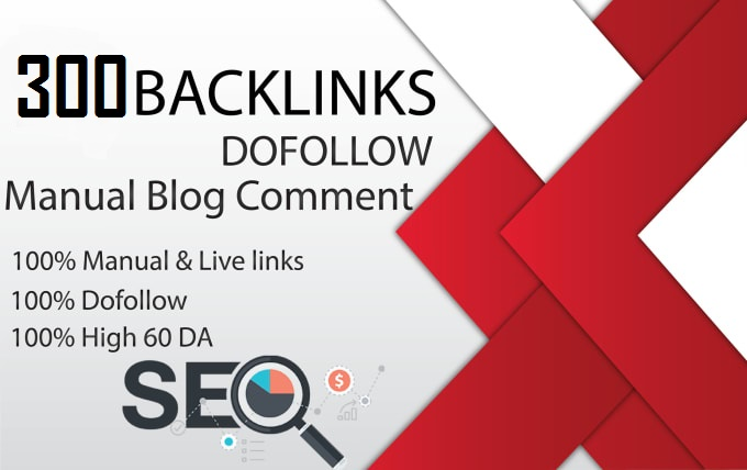 I will 300 blog comments seo backlinks on high da pa