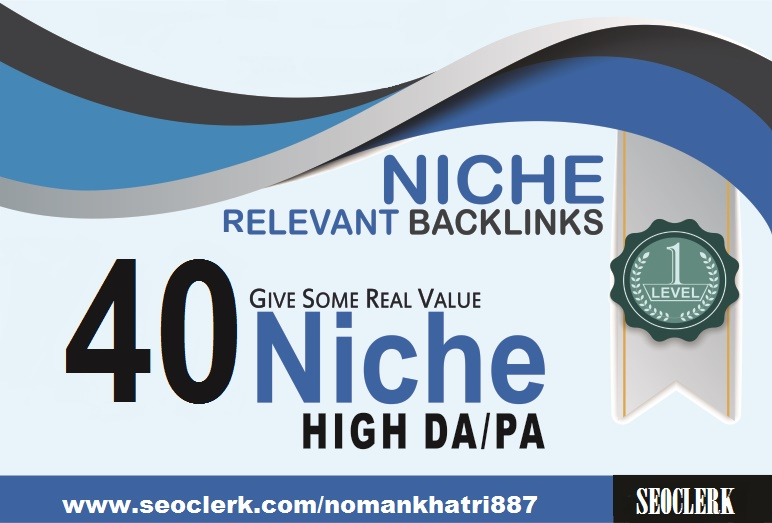 I will submit 40 niche relevant authority backlinks for SEO