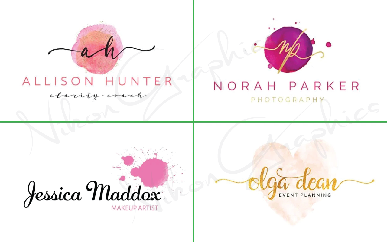 I will design stunning water color signature logo