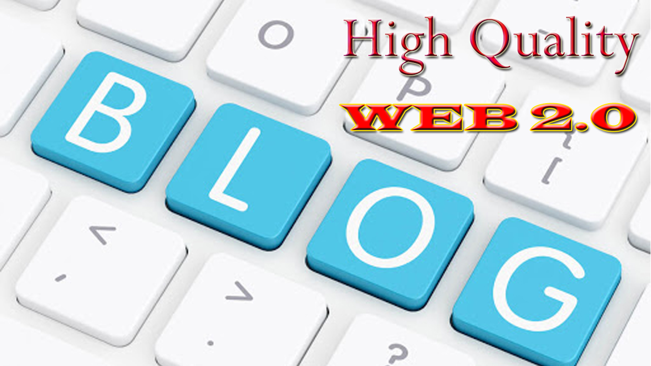 Do 40 WEB 2.0 High Quality Blogs Network Home Page Backlinks