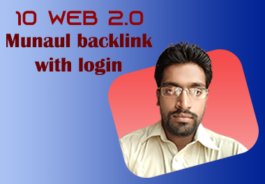 I will build 10 web 2.0 backlink manually
