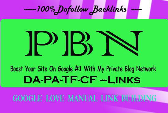 Provide Homepage 50 DA58+ ZERO SPAM Dofollow PBN BACKLINKS