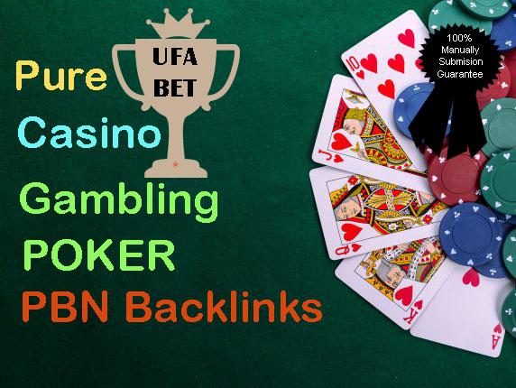 Provide 40 permanent DA 58-36+ PBN Backlinks Casino,  Gambling,  Poker,  Judi Related Websites