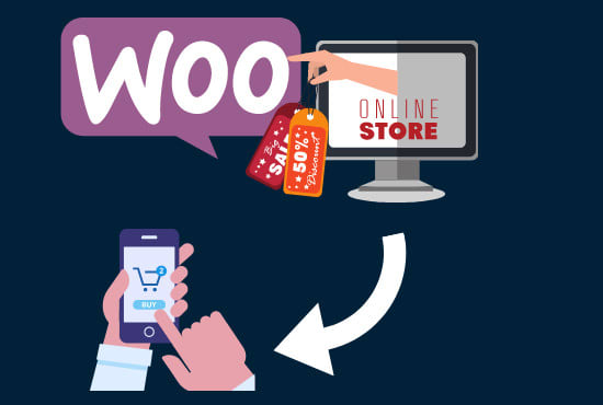 I will create an android app for your woocommerce store