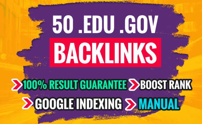 I will do 25 EDU/GOV High Authority Link building For SEO Backlinks